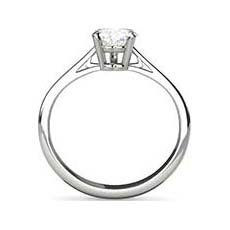 Justine diamond solitaire ring