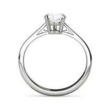 Justine platinum solitaire diamond ring