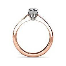 Dominique rose gold solitaire engagement ring