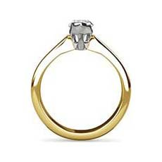 Dominique yellow gold engagement ring