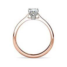 Tara rose gold oval engagement ring
