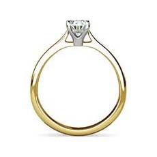 Tara yellow gold diamond engagement ring