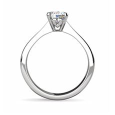 Sofia diamond platinum ring