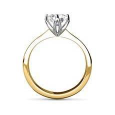 Mercedes yellow gold diamond ring