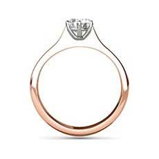 Amira rose gold engagement ring