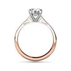 Jyoti rose gold engagement ring