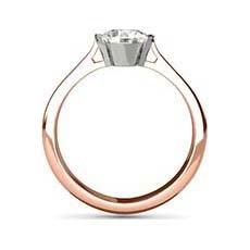 Melanie rose gold engagement ring