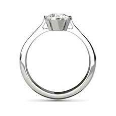 Melanie platinum diamond ring