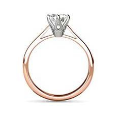 Sandra rose gold solitaire engagement ring