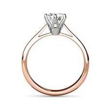 Sandra rose gold engagement ring