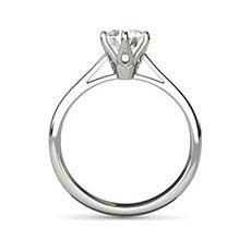 Sandra platinum solitaire diamond ring