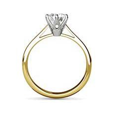 Sandra yellow gold diamond ring