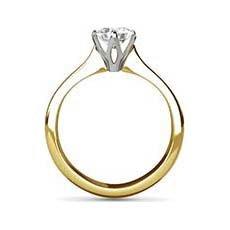 Amanda yellow gold diamond ring