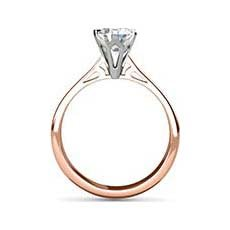 Angelae rose gold solitaire ring