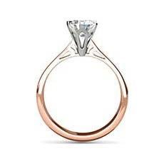 Angelae rose gold engagement ring