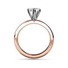 Carey rose gold solitaire engagement ring