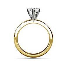 Carey yellow gold diamond ring