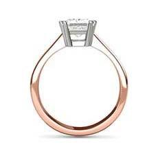 Hestia rose gold princess cut ring