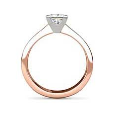 Delyth rose gold solitaire ring