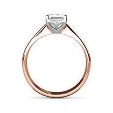 Amber rose gold engagement ring