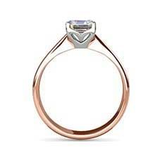 Esme rose gold diamond engagement ring