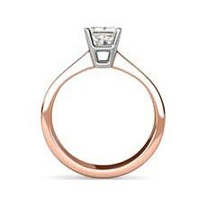 Yvette rose gold solitaire engagement ring