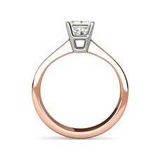 Yvette rose gold diamond ring