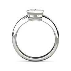 Verona rub over diamond ring