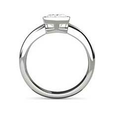Verona white gold princess cut ring