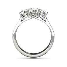 Phoebe three stone engagement ring