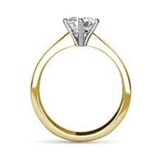 Keira yellow gold diamond ring