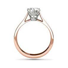 Charlotte rose gold solitaire ring