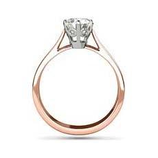 Charlotte rose gold diamond ring