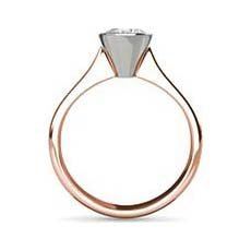 Amelia rose gold solitaire engagement ring