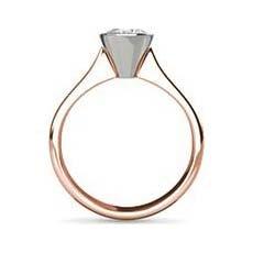 Amelia rose gold diamond ring