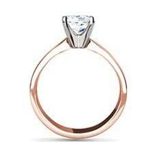 Ravija rose gold solitaire engagement ring