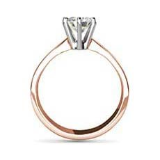 Adriana rose gold engagement ring