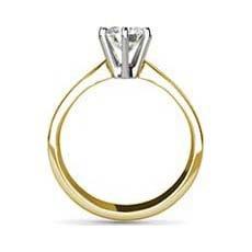 Adriana yellow gold diamond ring