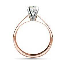 Florence rose gold solitaire engagement ring