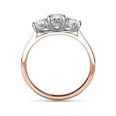 Charis rose gold oval engagement ring