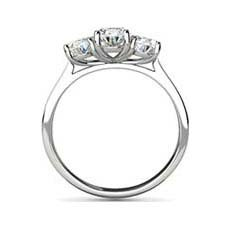 Charis three stone diamond ring