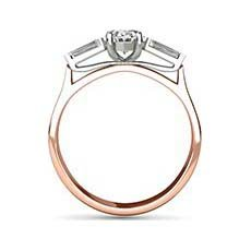 Patience rose gold oval engagement ring