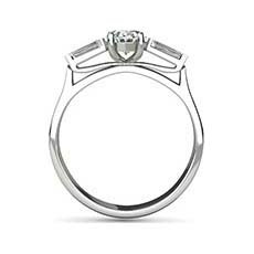 Patience oval engagement ring