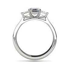Kristen emerald cut platinum engagement ring