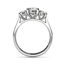 Cordelia three stone engagement ring