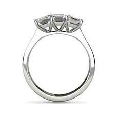 Laxmi emerald cut platinum engagement ring