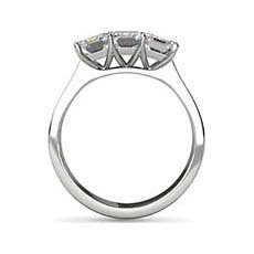 Laxmi emerald cut diamond ring