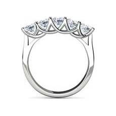 Anabel 5 stone diamond ring