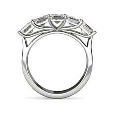 Thea emerald cut engagement ring