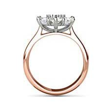 Emily vintage rose gold engagement ring
